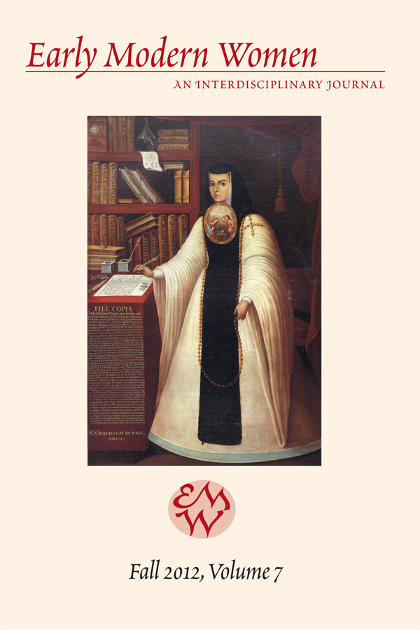 Early Modern Women Journal v7