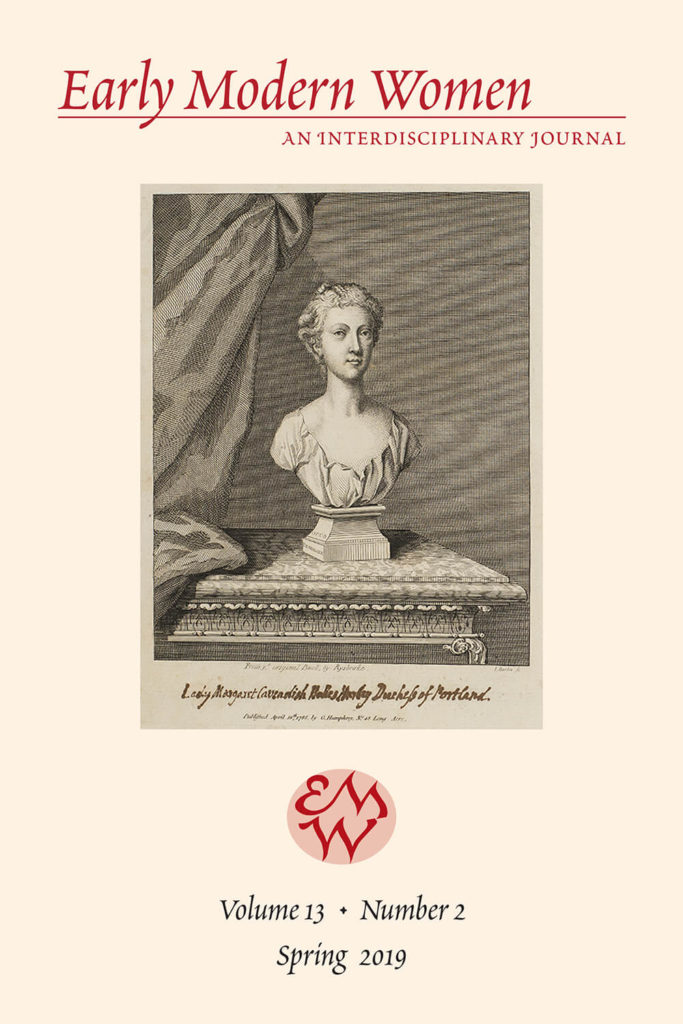Early Modern Women Journal Volume 13.2