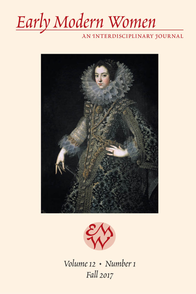 Early Modern Women Journal Volume 12.1