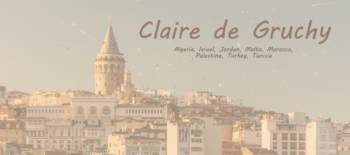 An Interview with Claire de Gruchy one of our reps in the many territories of the Middle East