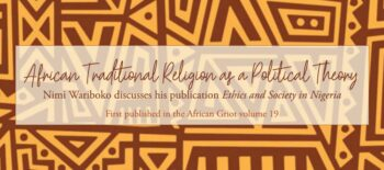 African Traditional Religion as a Political Theory