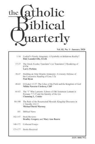 The Catholic Biblical Quarterly