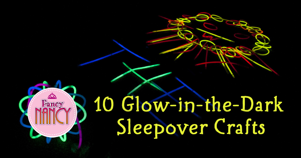 10 Glow-in-the-Dark Sleepover Crafts