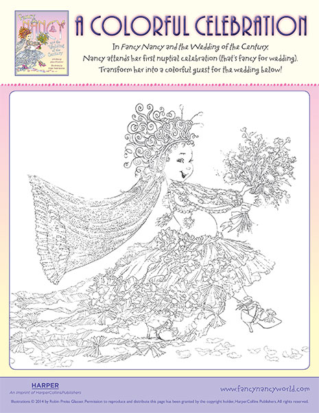 Fancy Nancy coloring page | Free Printable Coloring Pages | 602x465