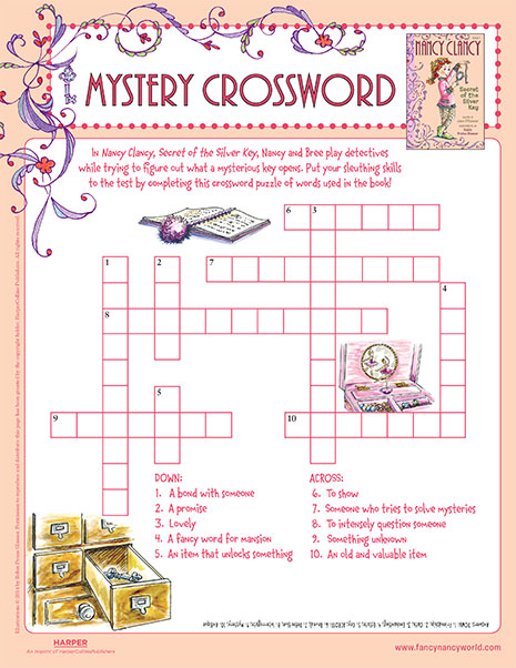 Mystery Crossword – Printable Game