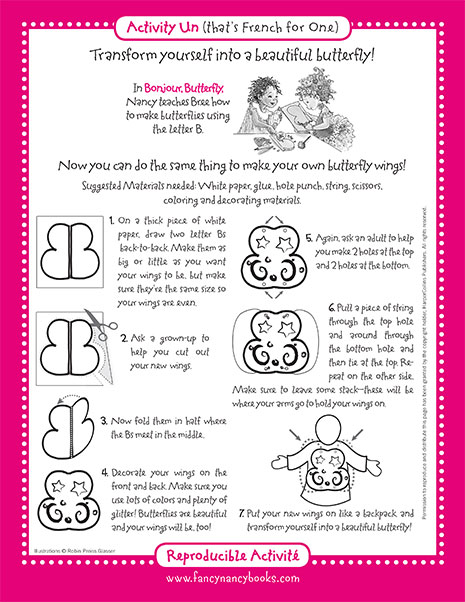 Beautiful Butterfly – Printable Fashion Activity
