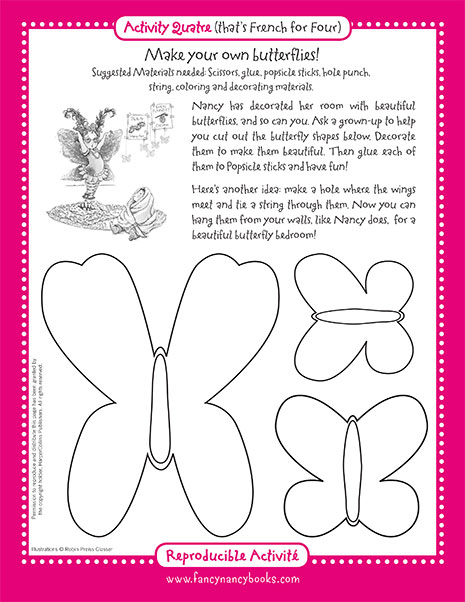 Fluttering Butterflies – Printable Craft Activity