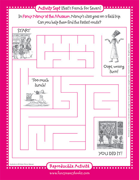 Museum Maze – Printable Game