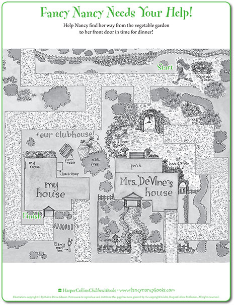 Map Maze Printable Game Fancy Nancy Printable Activities