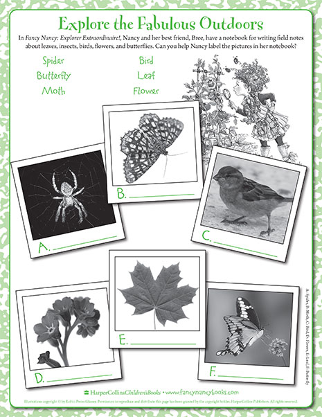 The Great Outdoors – Printable Game