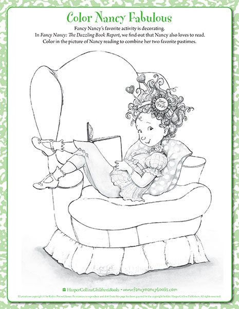 Fancy Nancy Printable Activities | FancyNancyWorld.com