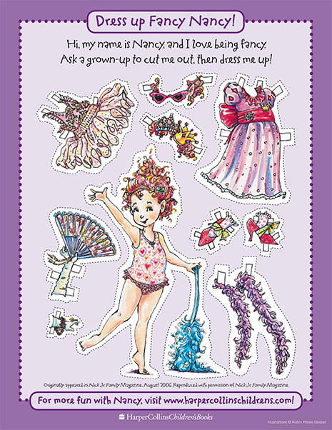 photograph about Paper Dolls to Printable named Extravagant Nancy Paper Doll Printable Type Video game Extravagant