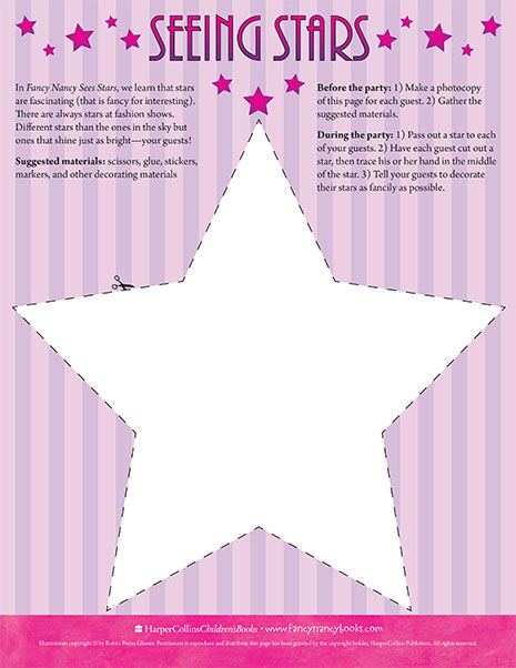 Star Guests – Printable Craft Activity