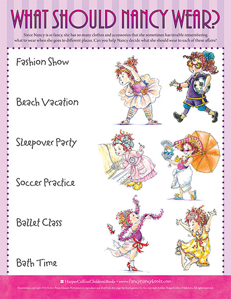 The Right Outfit – Printable Game