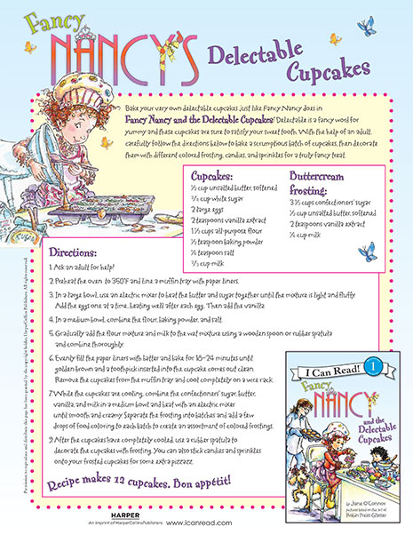 Delectable Cupcakes Recipe – Printable Craft Activity