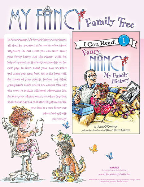 My Fancy Family Tree – Printable Reading Activity