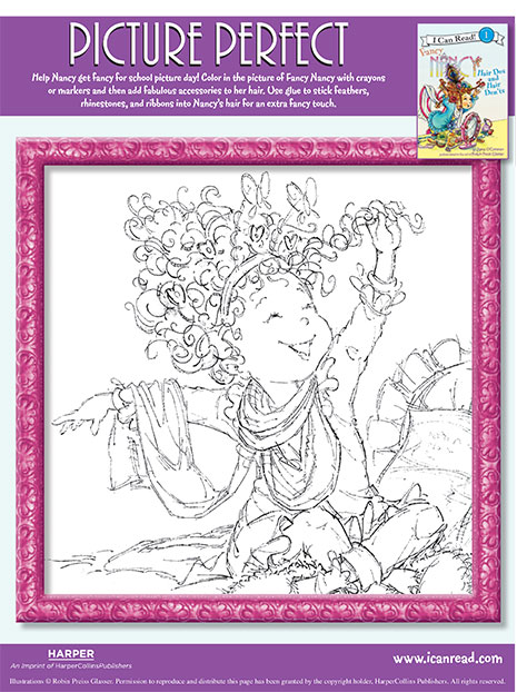 Picture Perfect – Printable Coloring Sheet