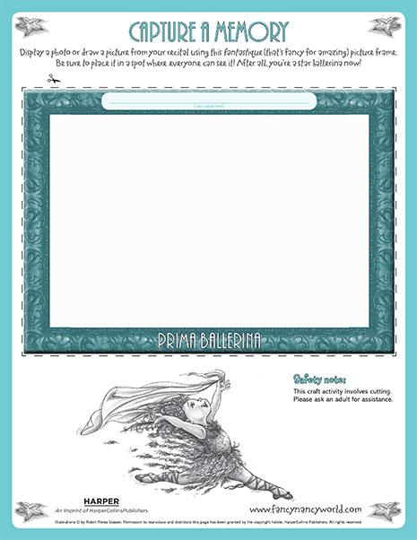 Prima Ballerina – Printable Craft Activity