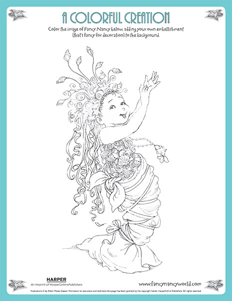 A Colorful Creation – Printable Coloring Sheet