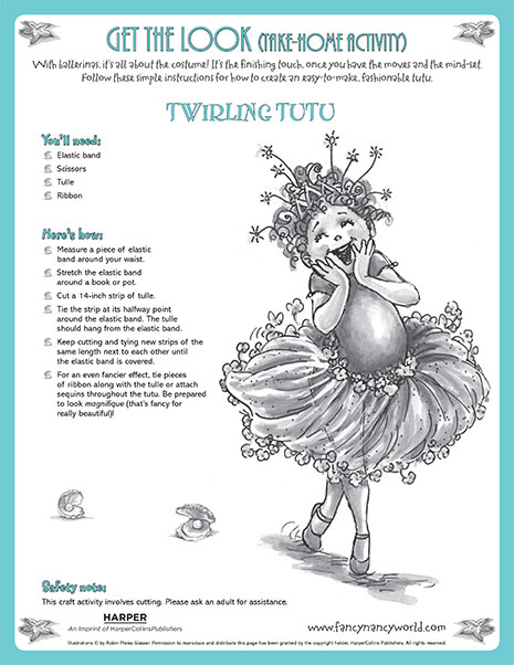 Twirling Tutu – Printable Fashion Activity