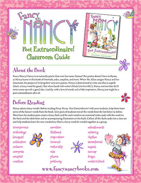 Poet Extraordinaire – Printable Classroom Guide