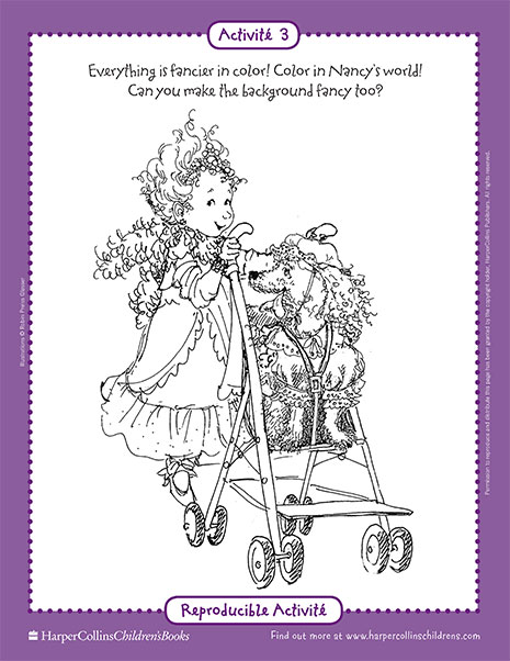 Fancy Nancy and the Posh Puppy – Printable Coloring Sheet