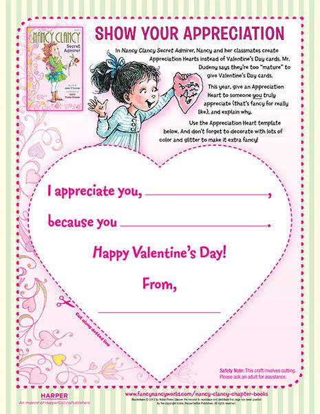 Show Your Appreciation – Printable Craft Activity