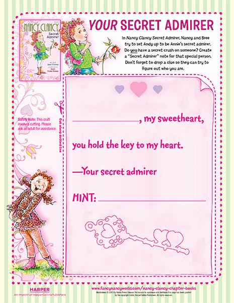 Your Secret Admirer – Printable Craft Activity