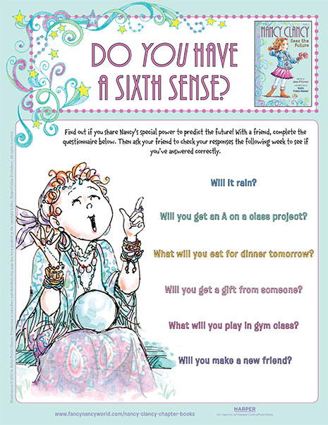 Do You Have a Sixth Sense? – Printable Game