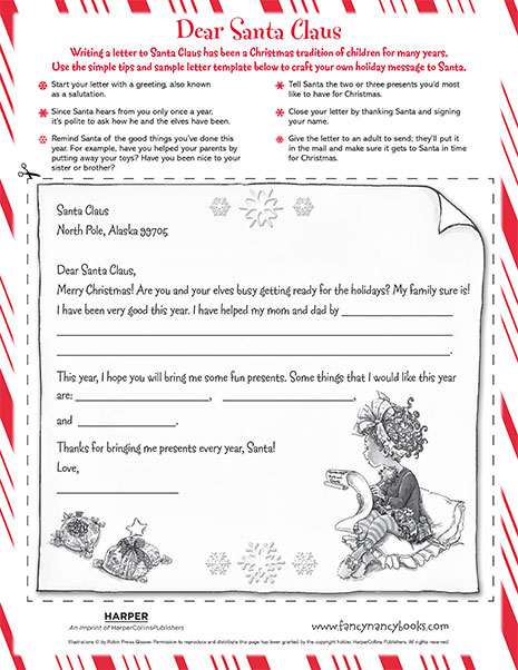 Dear Santa Claus – Printable Reading Activity