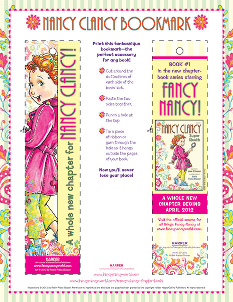 Fancy Bookmark – Printable Reading Activity
