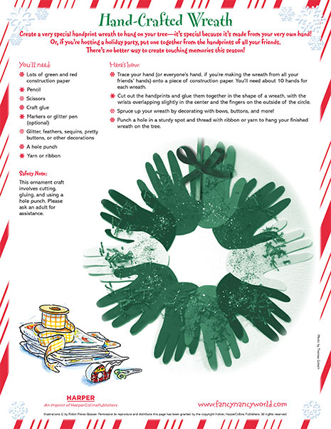Christmas Wreath – Printable Craft Activity
