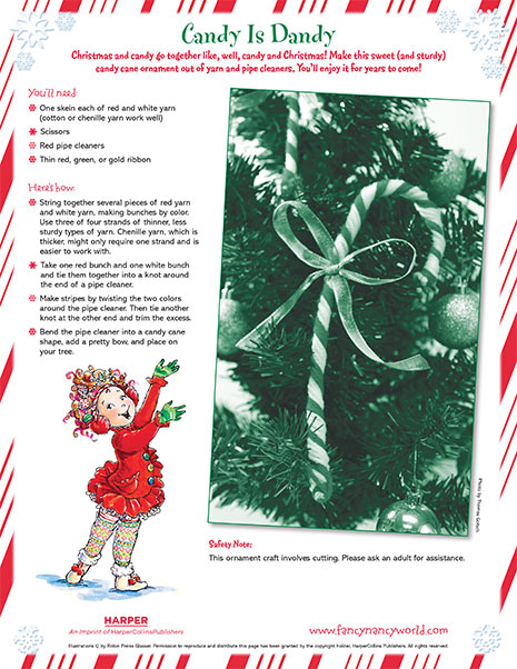 Christmas Candy Cane – Printable Craft Activity