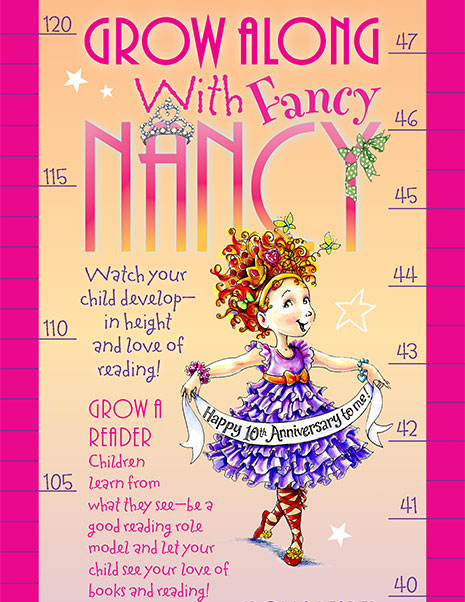 Grow Along with Fancy Nancy – Printable Growth Chart