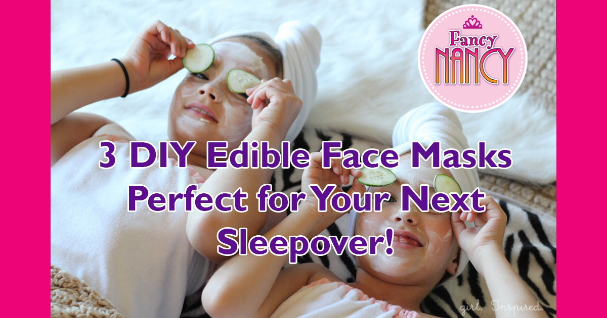 Edible Fancy Sleepover Perfect Kids Face Masks For Diy A 3 Spa
