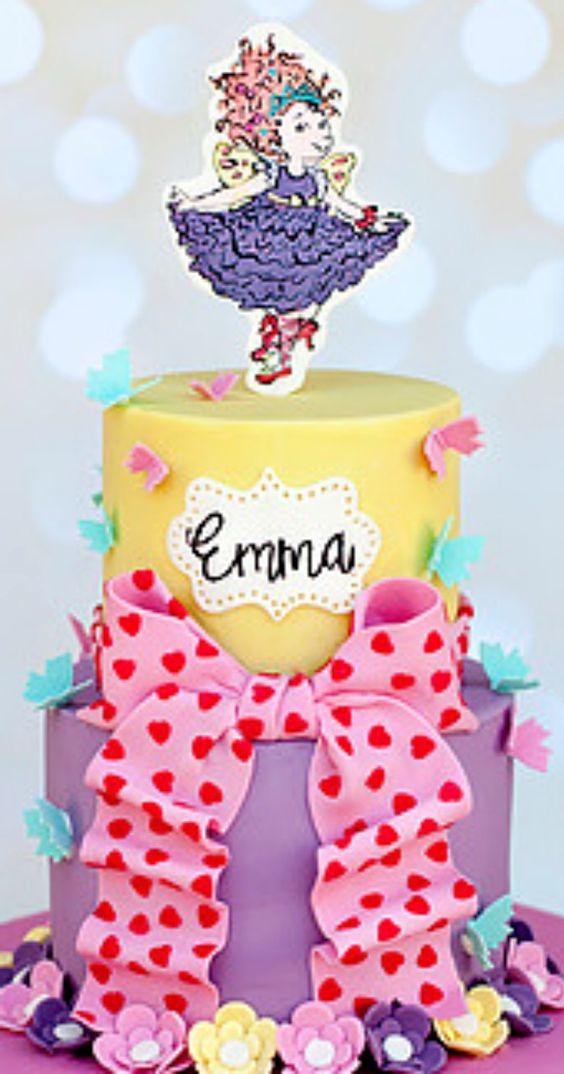 Marvelous Fancy Nancy Birthday Cake Fancy Nancy Party Tips Activities Funny Birthday Cards Online Overcheapnameinfo