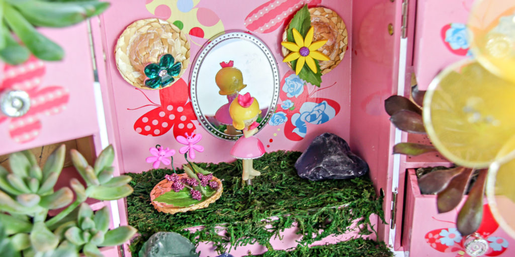 How to make a fairy garden: final result