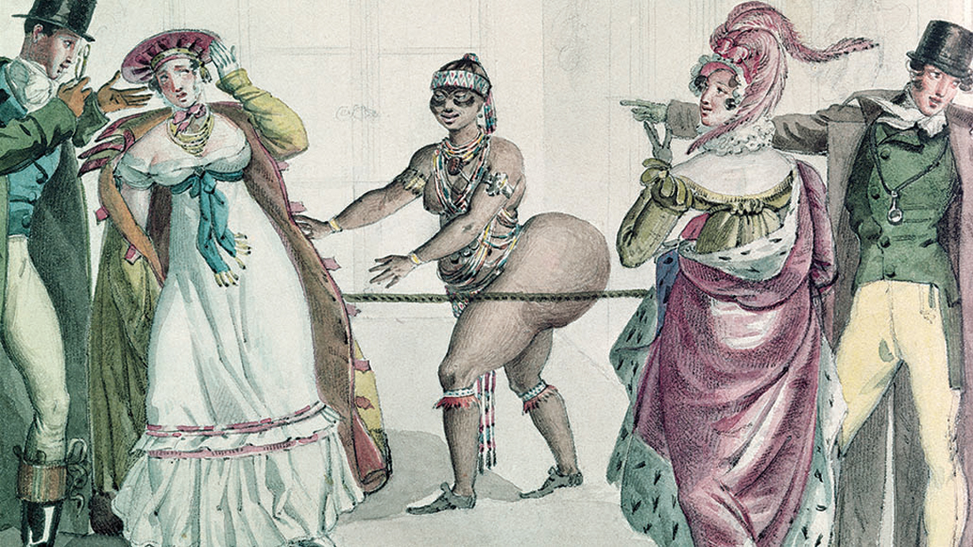 The Hottentot Venus in the Salon of the Duchess of Berry, 1830 (w/c on paper)