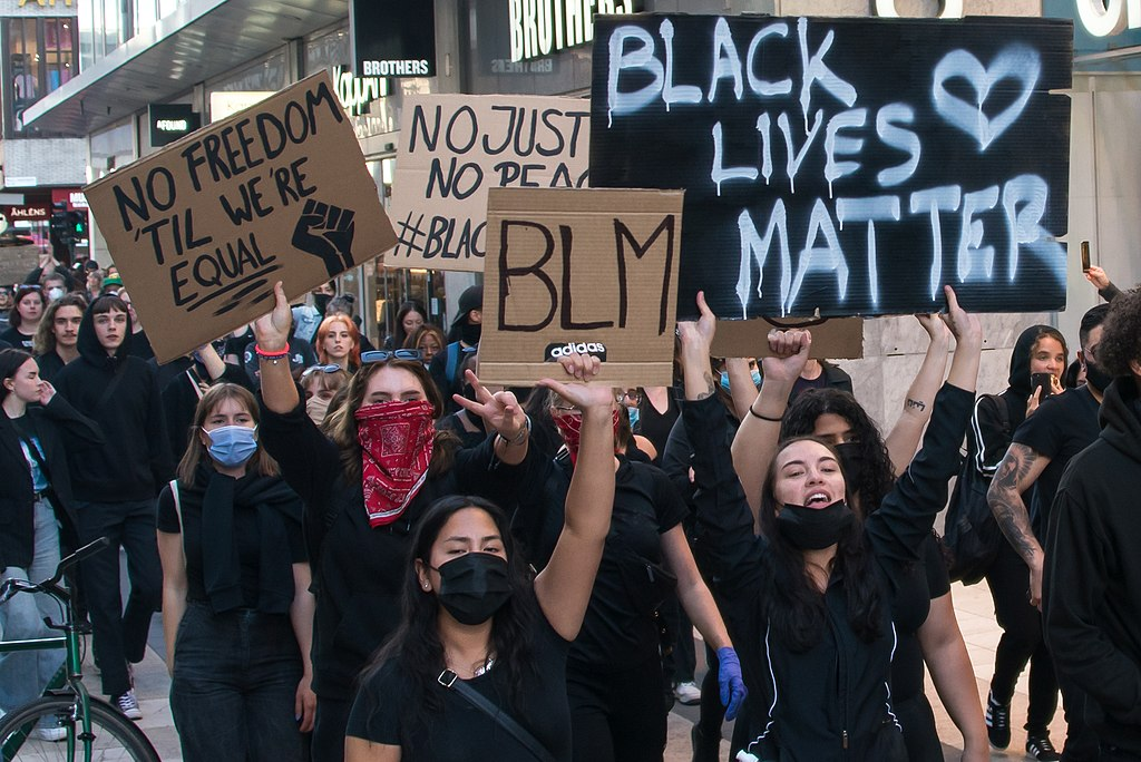 Black Lives Matter manifestation in Stockholm June 3, 2020.