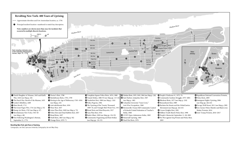 Map from the book Revolting New York