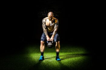 Kettlebell workout to develop strength and power