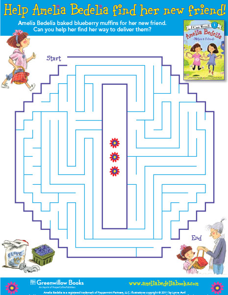Amelia Bedelia Blueberry Muffin Maze