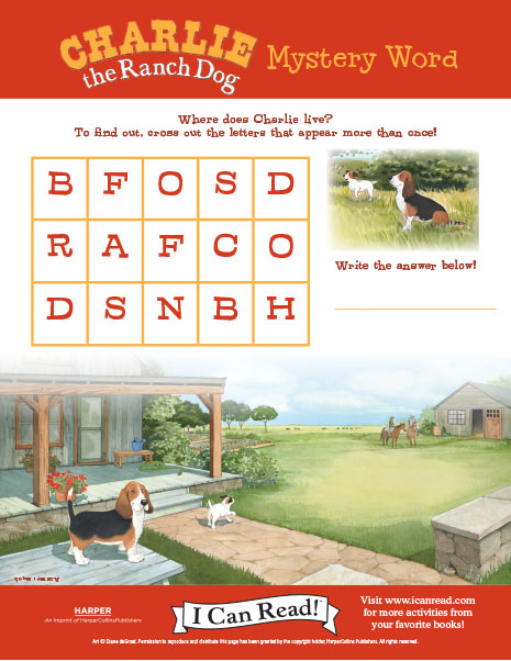 Charlie the Ranch Dog's Mystery Word