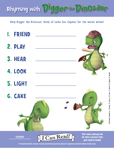 Rhyming with Digger the Dinosaur