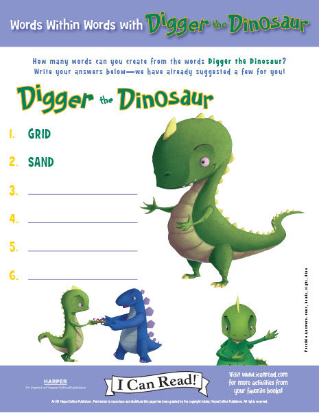 Words within Words with Digger the Dinosaur