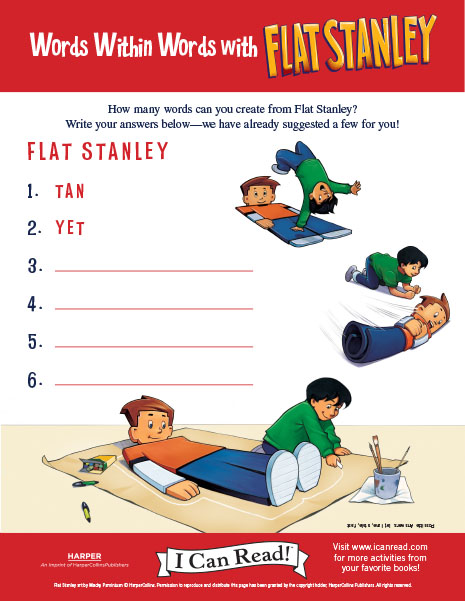 Words within Words with Flat Stanley