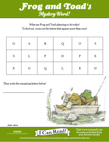 Frog and Toad's Mystery Word