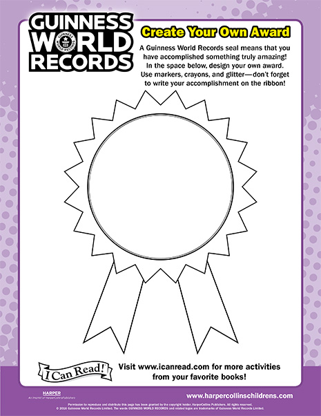 Guinness World Records: Create Your Own Award