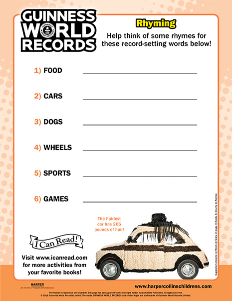 Guinness World Records: Rhyming