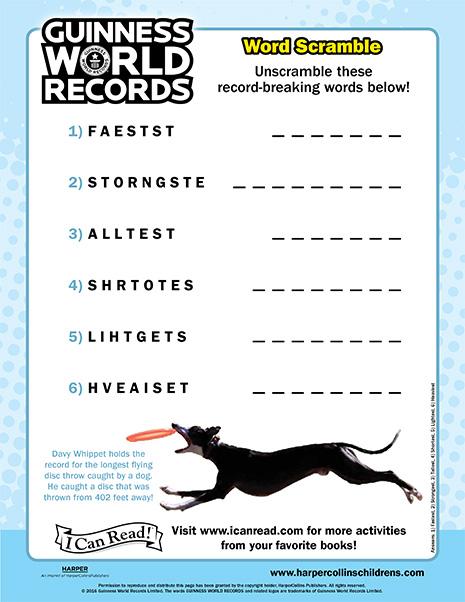 Guinness World Records: Word Scramble